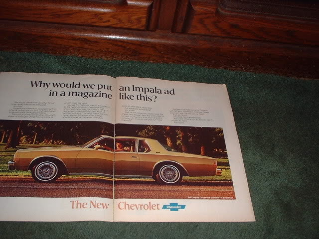 1976 CHEVY IMPALA VINTAGE CAR AD 2-PAGE
