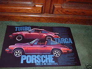 1976 1977 PORSCHE TURBO CARRERA 911S TARGA CAR AD
