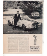 1966 1967 FORD MUSTANG SHELBY GT 350 GT350 CAR AD - $5.99