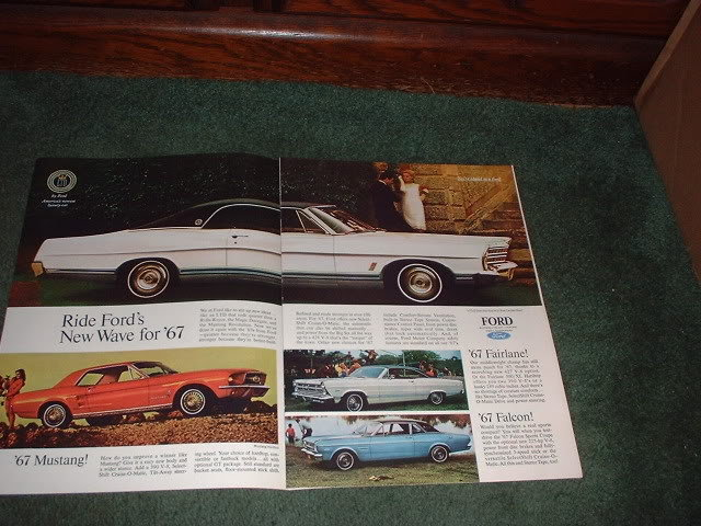 1967 DODGE CORONET R/T FORD FAIRLANE FALCON CAR AD