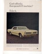 1966 1967 PONTIAC LAMANS TEMPEST OHC SPRINT CAR AD - $5.99