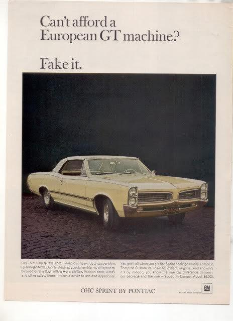 1966 1967 PONTIAC LAMANS TEMPEST OHC SPRINT CAR AD
