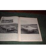 1966 FORD THUNDERBIRD CADILLAC ELDORADO ROAD TEST AD - $5.99