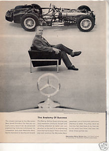 1962 MERCEDES BENZ VINTAGE CAR AD