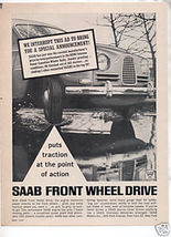 1962 1963 SAAB VINTAGE CAR AD - $7.99