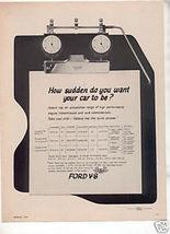 1962 1963 Ford Galaxie Motor Vintage Car Ad - $7.99