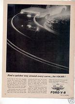 1962 1963 Ford Galaxie Vintage Car Ad - $7.99