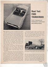1962 Ford Thunderbird Road Test Car Ad - $9.99