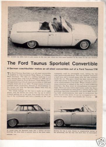 1962 FORD THUNDERBIRD ROAD TEST CAR AD