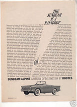 1962 1963 SUNBEAM ALPINE VINTAGE CAR AD - $9.99