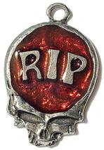 RIP Skull Fine Pewter Pendant Approx. 1 5/8 inches tall image 6