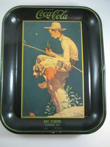 Coca-Cola Norman Rockwell 1935 Calendar Art Tray Brown Boy Fishing Repro - $7.43