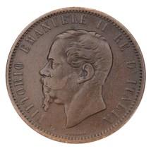 1866-M Italie 10 Centesimi En XF État Km #11.1 - $78.70
