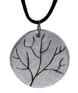 Round Branch Polymer Clay Pendant - $19.00