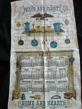 Vintage Tea Towel 1971 Calendar Peace And Plenty Home And Hearth 17 x 29... - $14.97