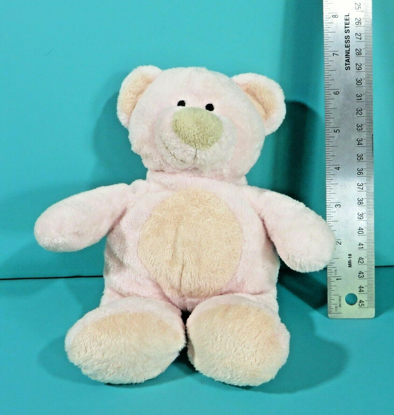 "Primary image for Ty Pluffies Pinks Teddy Bear 9"" Plush Pink Peach Stuffed Animal Baby Lovey 2002"