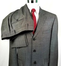 Andrew Fezza Suit Mens Size 44 Regular 35 x 29 Three Button Gray Plaid 1... - $69.25