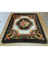 Marcos Plush Fleece Blanket Thick Ornate Floral Flower Luxurious 76 x 94... - $128.69