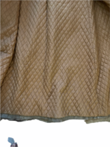 Vintage Women Long Suede Leather Fur Trim Coat Full Length Brown 70s Trench Belt image 6