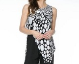 Last Tango Black/White Sleeveless High-Low Crossover Tunic-New Markdown! - $50.92
