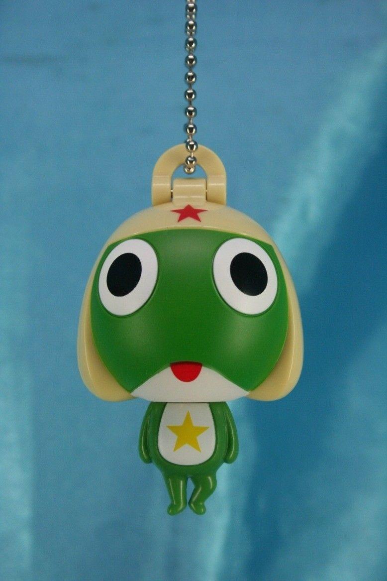 Primary image for Bandai Sgt Frog Keroro Gunso Gashapon Big Head Figure Keychain Charms Keroro A