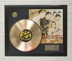 ELVIS PRESLEY - MILLION DOLLAR QUARTET FRAMED GOLD LP REPRODUCTION SIGNA... - $151.95