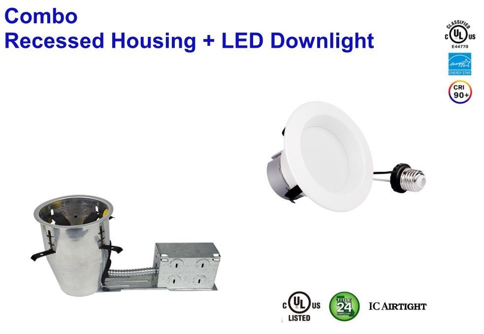 "Bybon 4"" LED Can & Trim Combo -12W Remodel ICAT Downlight-UL & Energy Star rated"