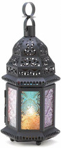 Gifts and Decor Iron Glass Magic Rainbow Candle Holder Hanging Lantern - $45.04