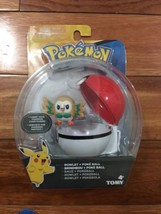 Tomy Pokemon Rowlet And Pokeball Action Figure - $15.83