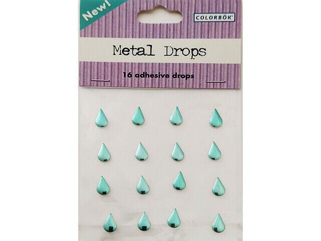 Colorbok Metal Drops, Self-Adhesive Teardrops, Green #34688