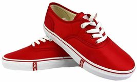 Levi's Women's Classic Premium Atheltic Sneakers Shoes Rylee 524342-01R Red image 7