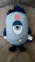 "DETROIT TIGERS OVAL ALIEN GUY PLUSH Character New 2016 MLB Licensed 14"" ... - $11.99"