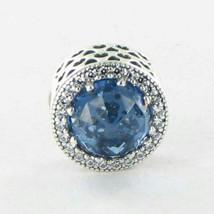 Pandora 791725NBS Charm Bead Radiant Hearts Blue Crystal Zirconia 925 Ne... - $44.61