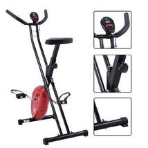 Goplus Folding X-Shape Exercise Bike Cardio Workout Cycling Fitness Stat... - $100.98