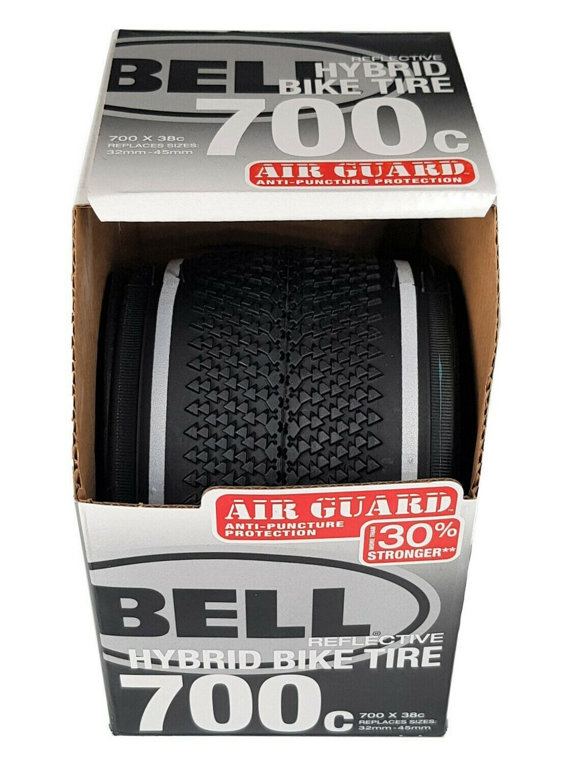 Bell Reflective Hybrid Bike Tire 700c x 38c Replaces:  32mm-45mm New - $24.70