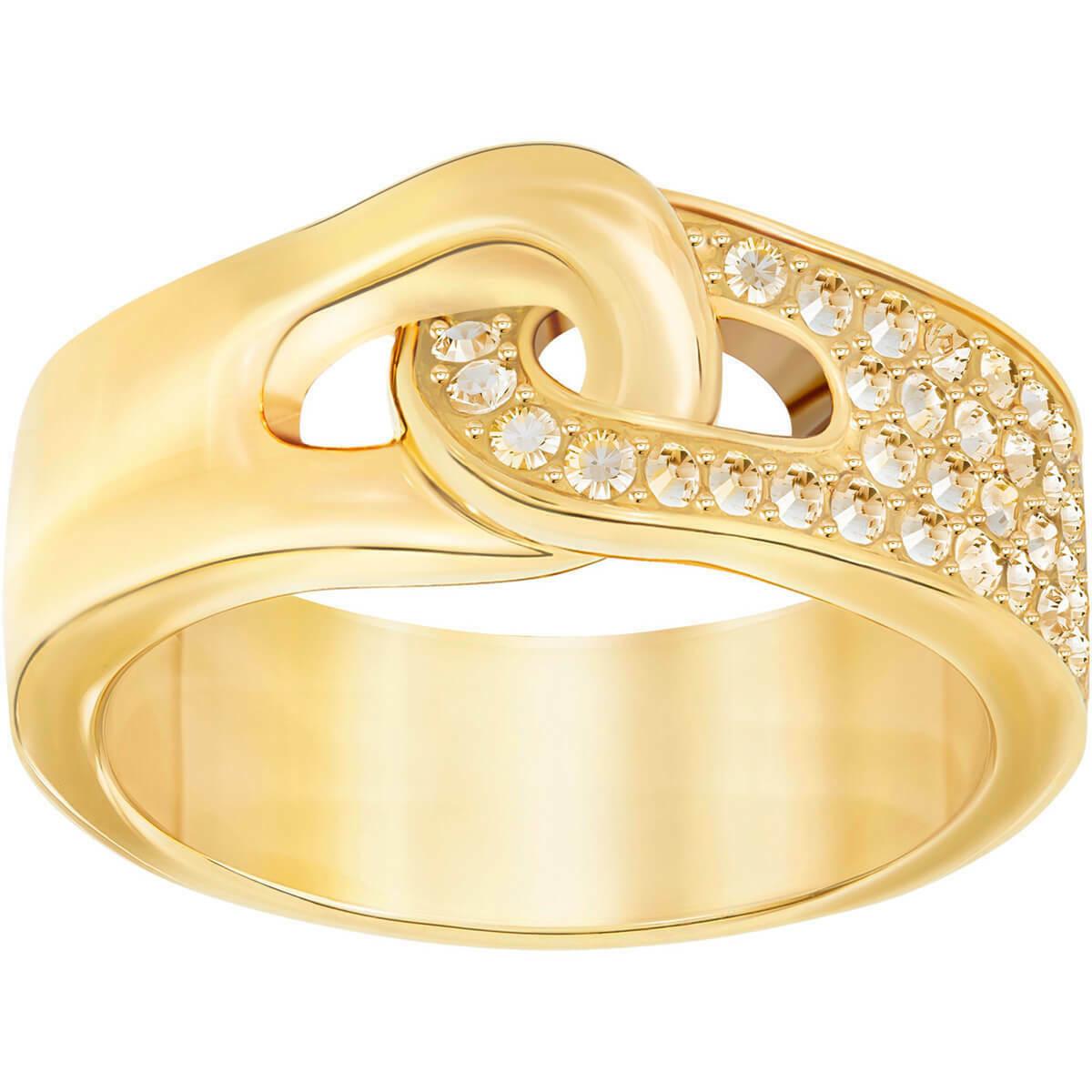 Authentic Swarovski Gallon Yellow Gold Ring - RRP $99