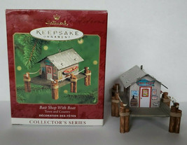 2000 Hallmark Keepsake Ornament, Bait Shop With Boat Town & Country Seri... - $14.99
