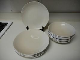 Ikea Stoneware Dish Set 6 Dinner Plates & 6 Bowls Sand Beige Color - $66.82