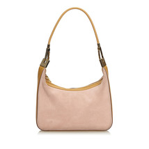 Pre-Loved Gucci Pink Suede Leather Shoulder Bag Italy - $316.97
