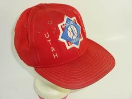 Vintage New Era Red Snapback Trucker Hat Utah Babe Ruth Baseball 1992 (Sm - Med) - $16.04