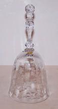 """LOVELY VINTAGE FOSTORIA ELEGANT GLASS ETCHED NAVARRE 6 3/8"""" DINNER BELL - $28.70"""