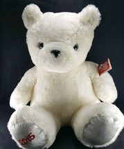 "Russ White Bear Jingle Make Someone Happy Plush 16"" Sitting 2015 Stuffed... - $19.79"
