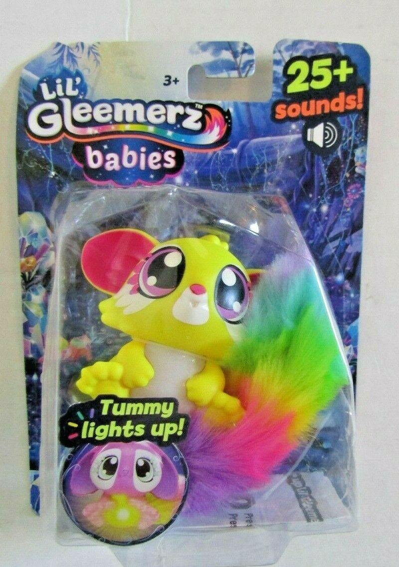 LIL' GLEEMERZ BABIES YELLOW 25+ Sounds TUMMY LIGHTS UP BRAND NEW 3+ Mattel - $9.99