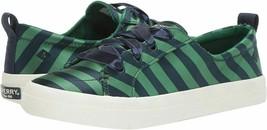 Sperry Crest Vibe Varsity Stripe Satin Sneaker, Navy/Green, 8.5 - $67.16 CAD