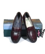 SAS EASIER Slip On Leather Loafers Tri Pad Comfort Wine Color Size 5 1/2... - $59.39