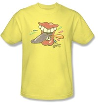 Tongue Splashers T-shirt retro 80's candy yellow cotton graphic tee DBL138 image 2