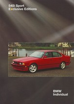 1996 BMW 540i SPORT EXCLUSIVE EDITION brochure catalog folder US 96 - $12.00