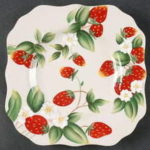 Harry and David Strawberry Square Salad Dessert Collectible Salad Plate - $16.99