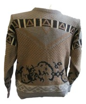 Mens Robert Bruce Grey 90s Sweater Size M Medium Hip Hop Streetwear - $69.99