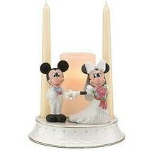 Lenox Disney Mickey Minnie Wedding Unity Candle Holder Figurine Bride Gr... - $103.00